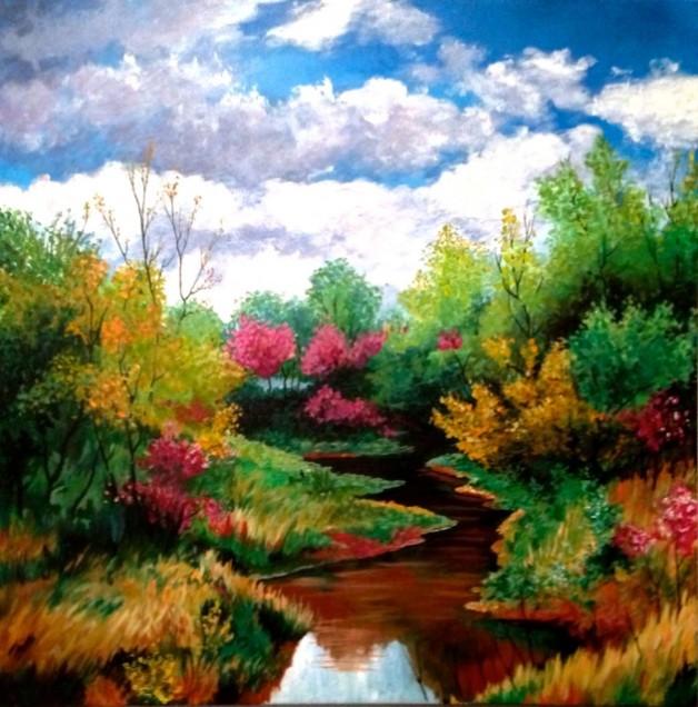 Meandering Meadow Stream